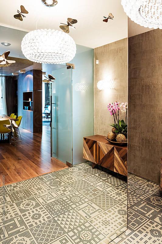 Modern vestibule in contemporary interior by Aleksandar Novoselski for Stocksy United