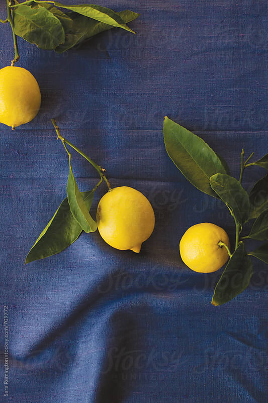 Organic Lemons on Purple by Sara Remington for Stocksy United