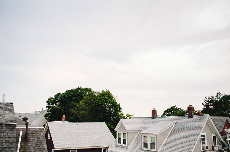 view from a rooftop patio by Margaret Vincent for Stocksy United