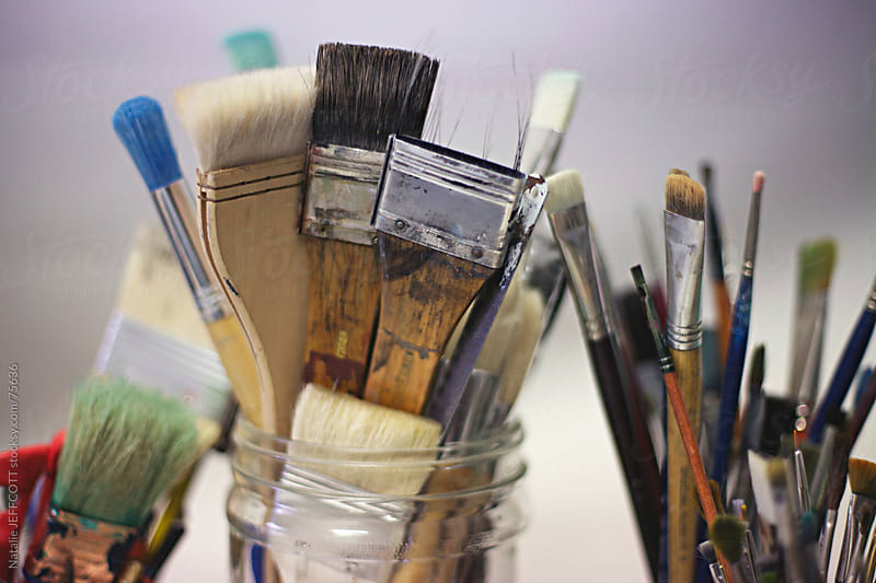 artists brushes by Natalie JEFFCOTT for Stocksy United