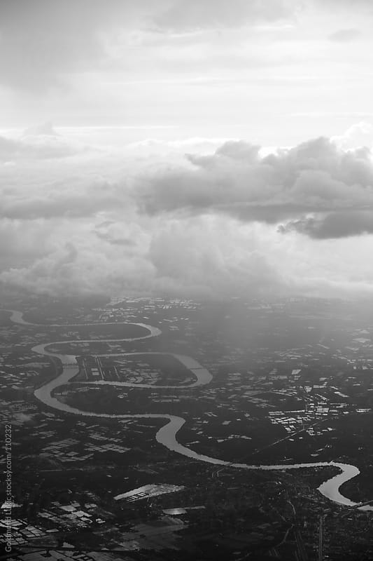 River Meandering by Goldmund Lukic for Stocksy United