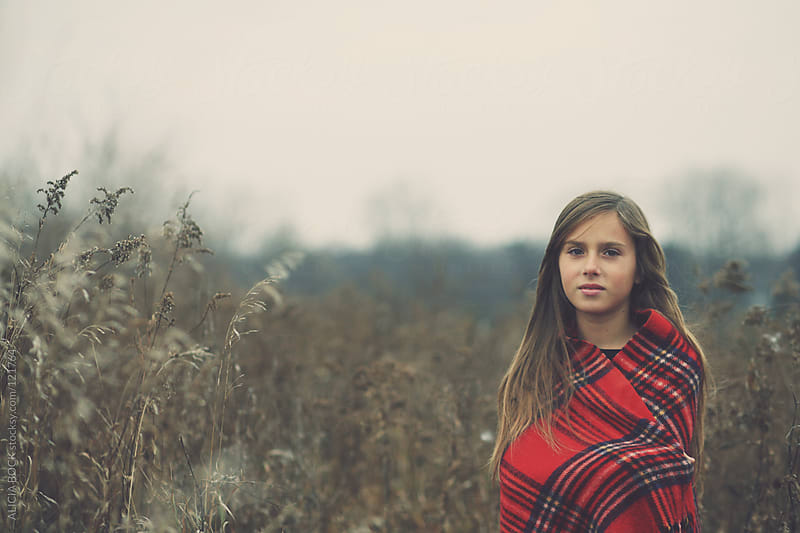 Girl In An Autumn Field #2 by ALICIA BOCK for Stocksy United