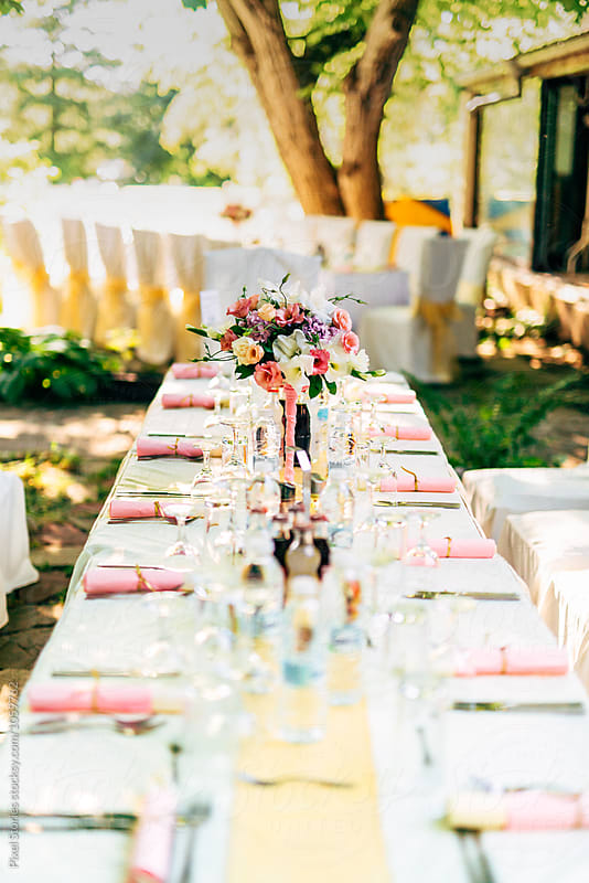 Wedding tabletop by Pixel Stories for Stocksy United