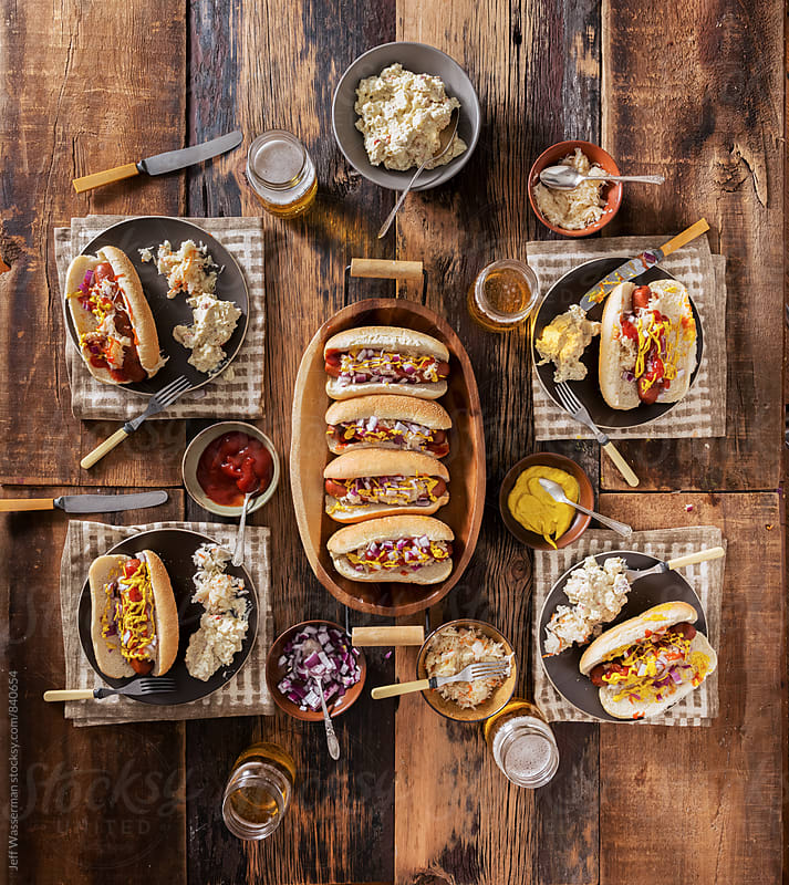 Gourmet Hotdog Dinner Party by Studio Six for Stocksy United