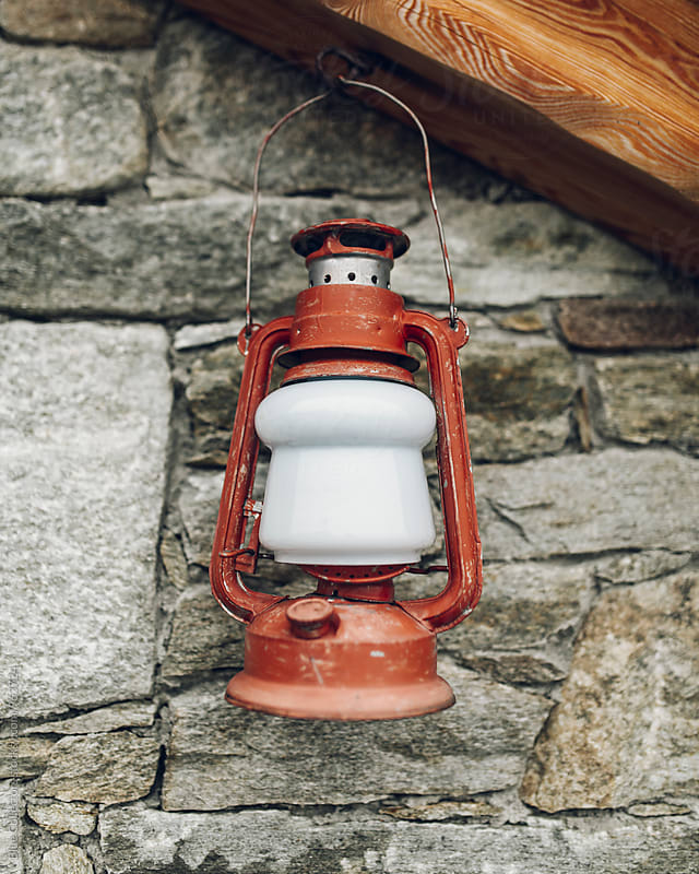 Red Oil Lamp by Blue Collectors for Stocksy United