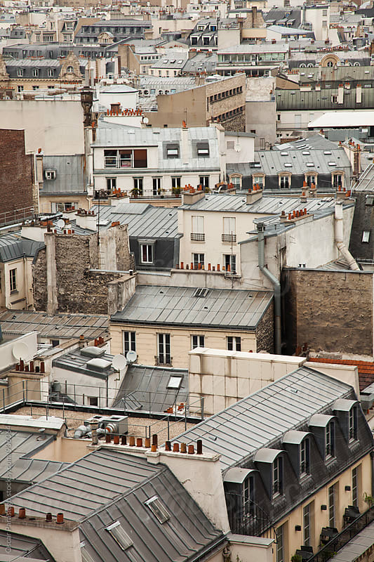 Paris roofs by Oscar Parasiego for Stocksy United