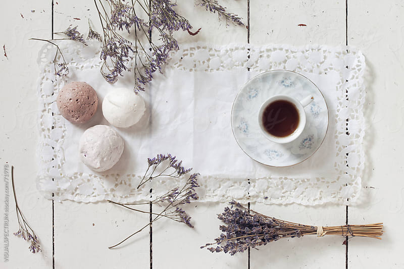 Meringues & A Cup of Tea by VISUALSPECTRUM for Stocksy United