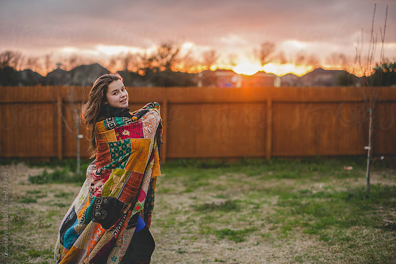 wrapped up at sunset by Courtney Rust for Stocksy United