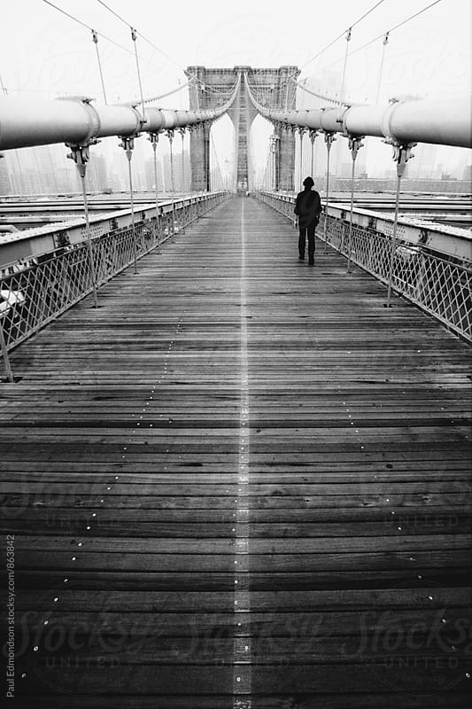 The Brooklyn Bridge, NY, NY, USA by Paul Edmondson for Stocksy United
