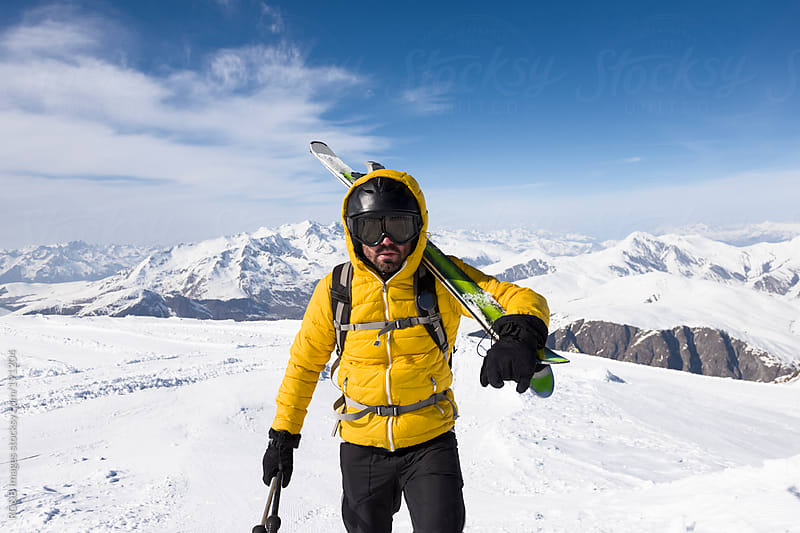 Skier portrait by RG&B Images for Stocksy United
