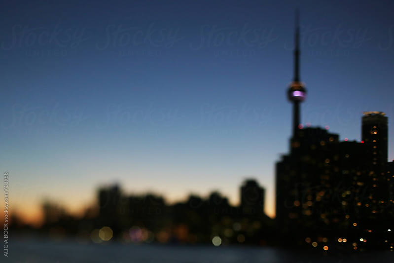 Abstract View Of Downtown Toronto And The Harbor On A Summer Evening by ALICIA BOCK for Stocksy United