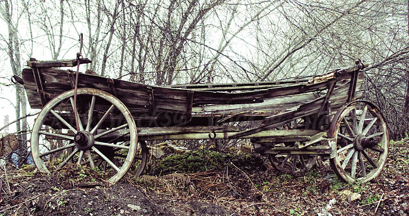 Old wooden cart by Robert Kohlhuber for Stocksy United