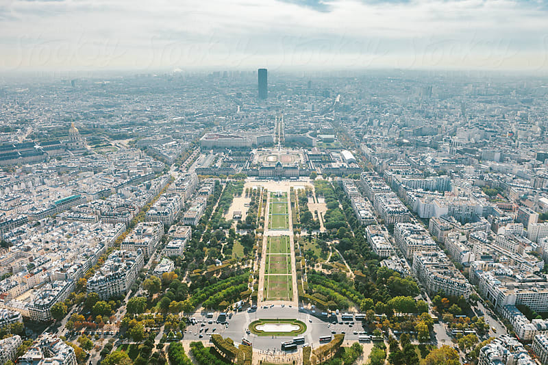 Champs de Mars from Eiffel Tower by Zocky for Stocksy United