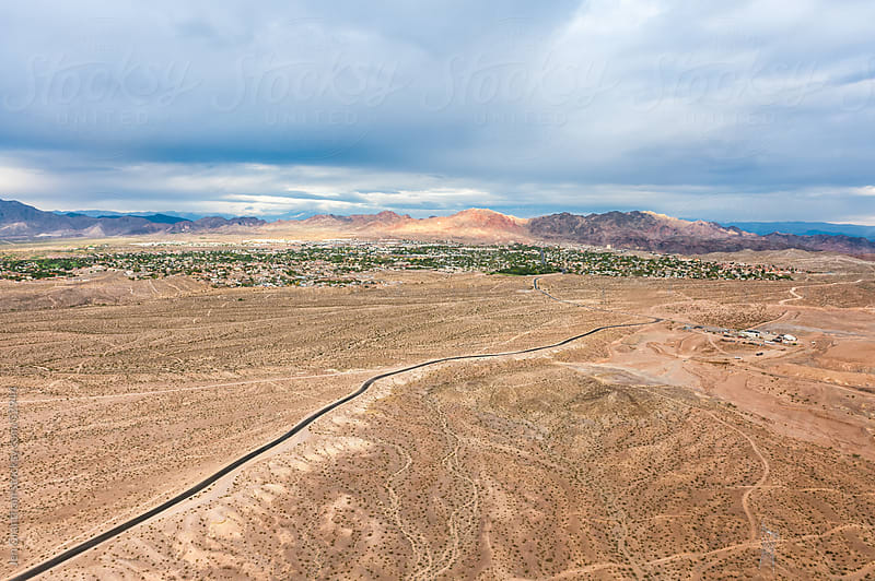 Aerial view of Nevada by Jen Grantham for Stocksy United