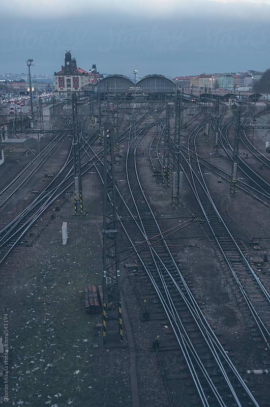 Prague main train station by Tomas Mikula for Stocksy United