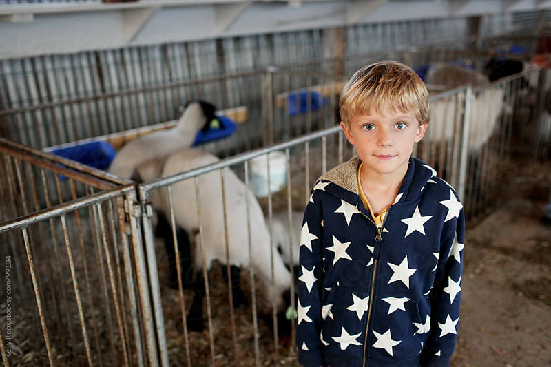 boy at the county fair by Kelly Knox for Stocksy United