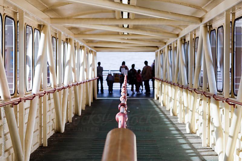 Corridor leading to a dock by Robert Kohlhuber for Stocksy United