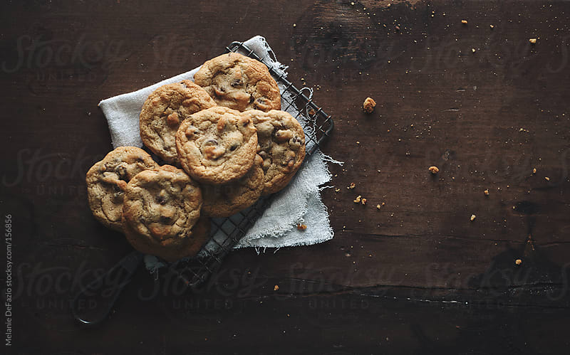 Chocolate cookies  by Melanie DeFazio for Stocksy United