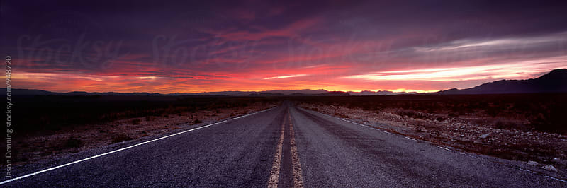The Road to Sunset by Jason Denning for Stocksy United