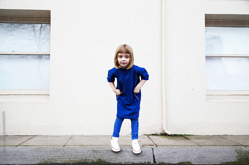 Girl in Blue by Ali Lanenga for Stocksy United