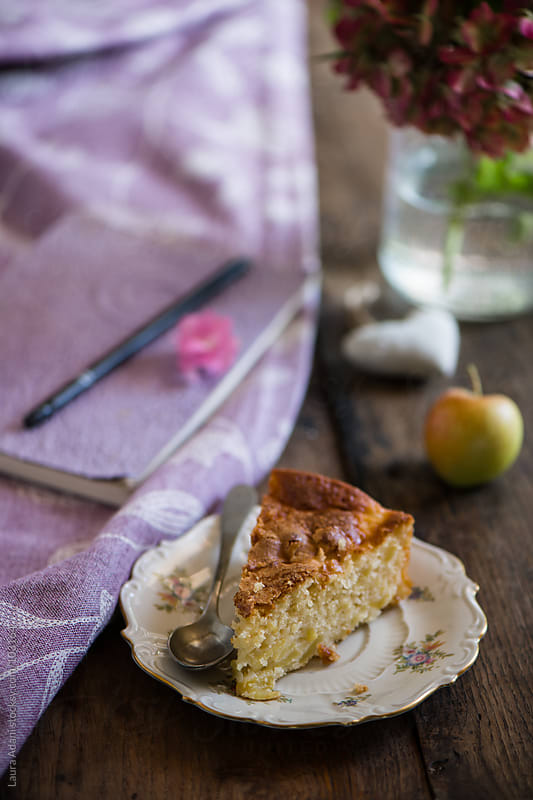 slice of apple cake by Laura Adani for Stocksy United