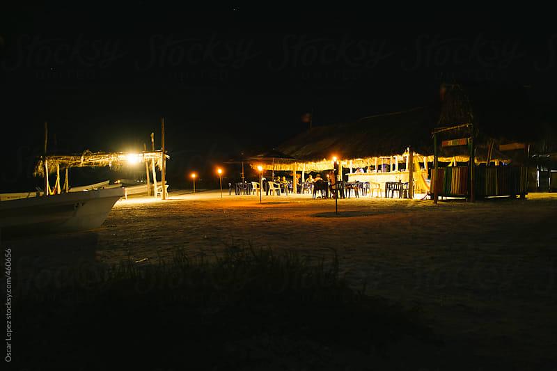 Shack restaurant on the beach by Oscar Lopez for Stocksy United