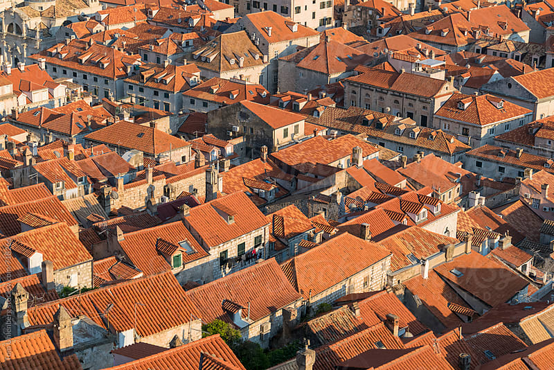 Rooftops of the Old Town in Dubrovnik, Croatia by Tom Uhlenberg for Stocksy United