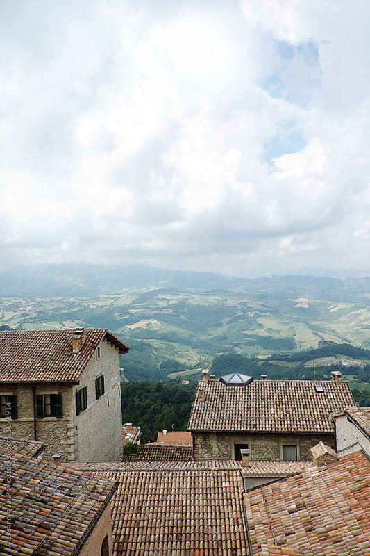 Rooftops in San Marino by Aleksandra Jankovic for Stocksy United