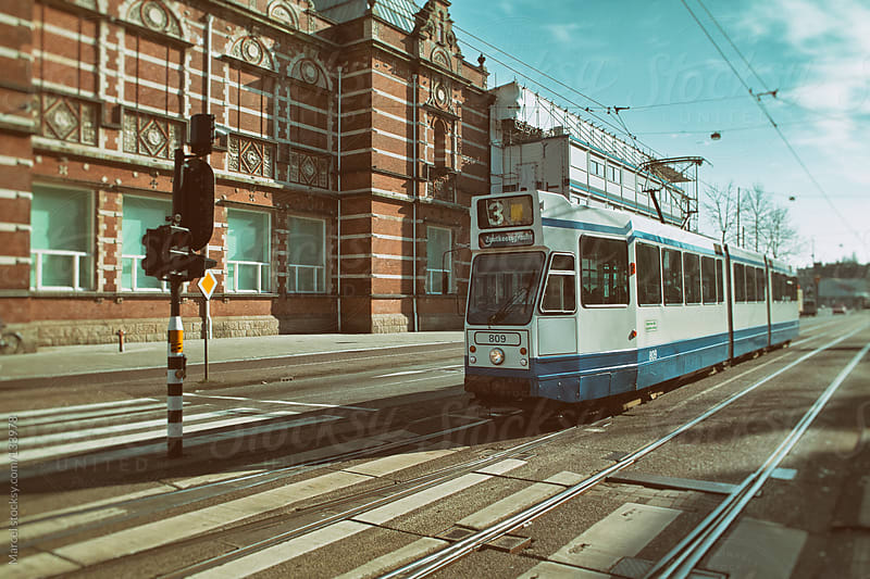 Tram in Amsterdam by Marcel for Stocksy United