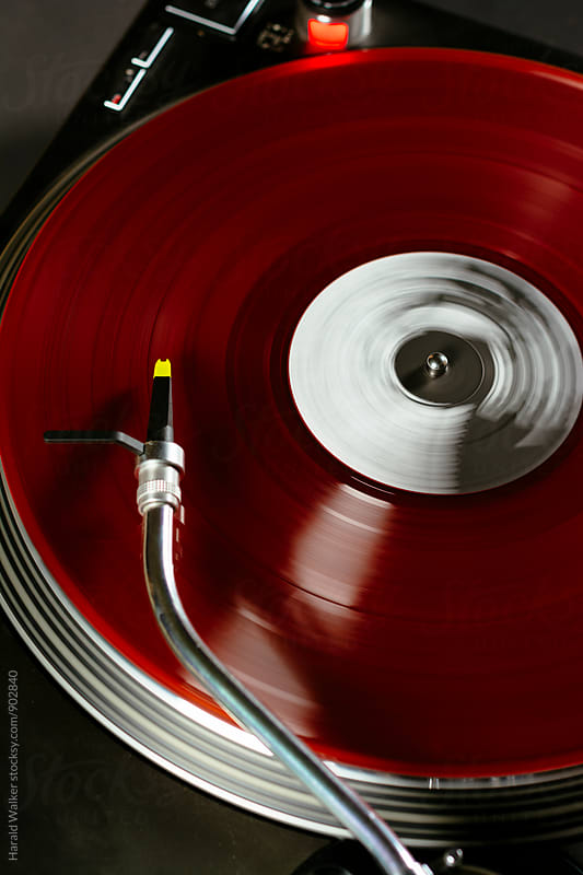 Red record by Harald Walker for Stocksy United