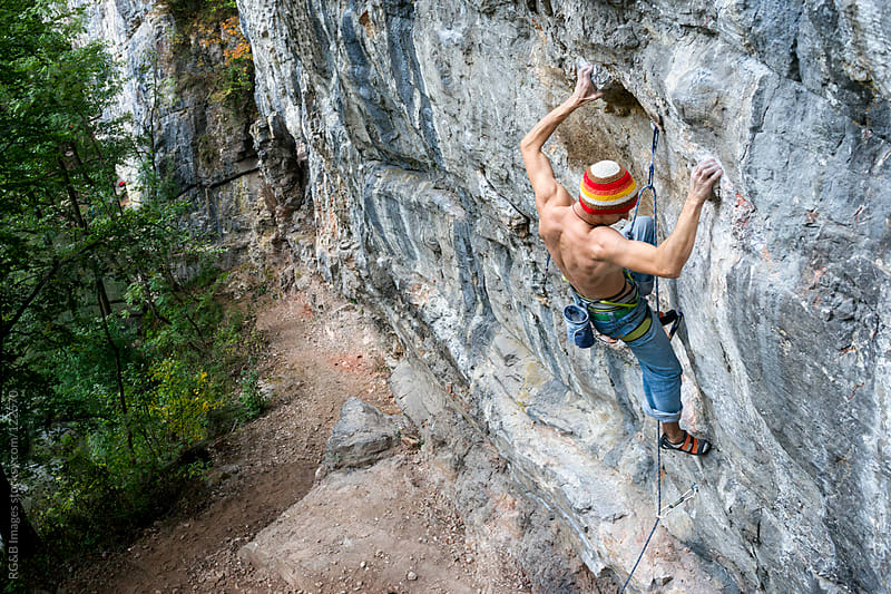 rock climber on the wall by RG&B Images for Stocksy United
