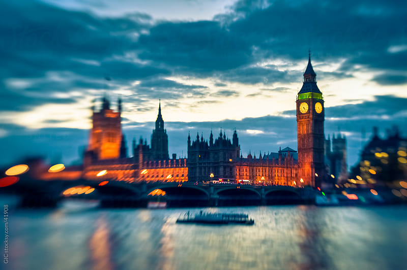 London cityscape at sunset with Big Ben by GIC for Stocksy United