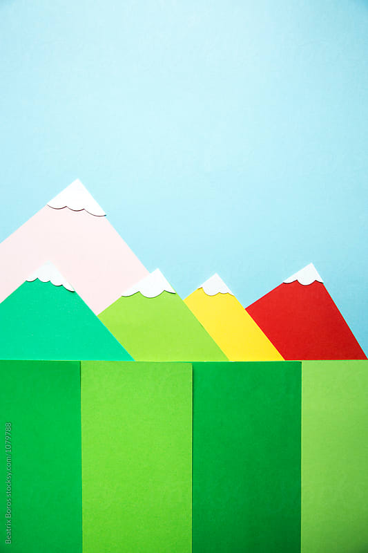 Snow on colorful mountain tops by Beatrix Boros for Stocksy United