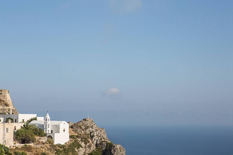 Little chappel in the Greek coast. by Alberto Bogo for Stocksy United