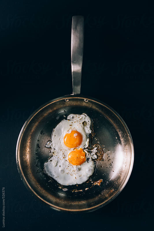 Fried Eggs in a Pan by Lumina for Stocksy United