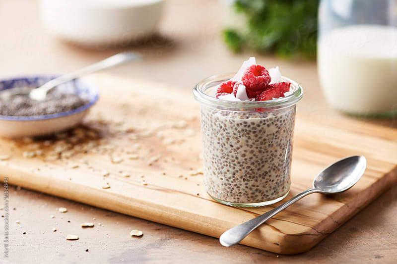 Delicious vanilla chia pudding  by Martí Sans for Stocksy United