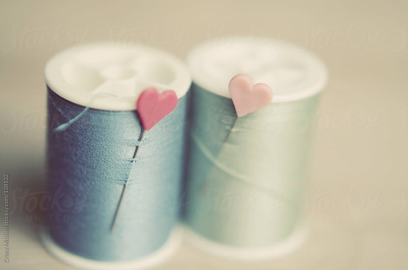 Spools of thread by Crissy Mitchell for Stocksy United
