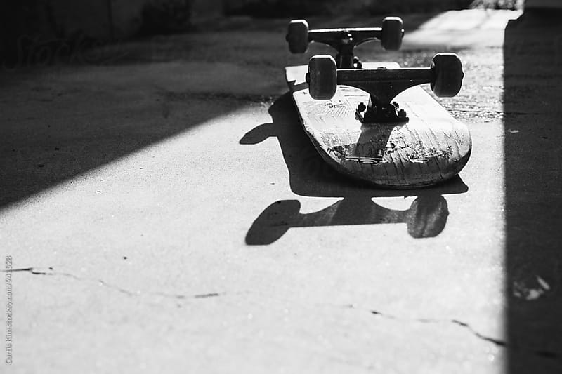 Flipped Skateboard by Curtis Kim for Stocksy United