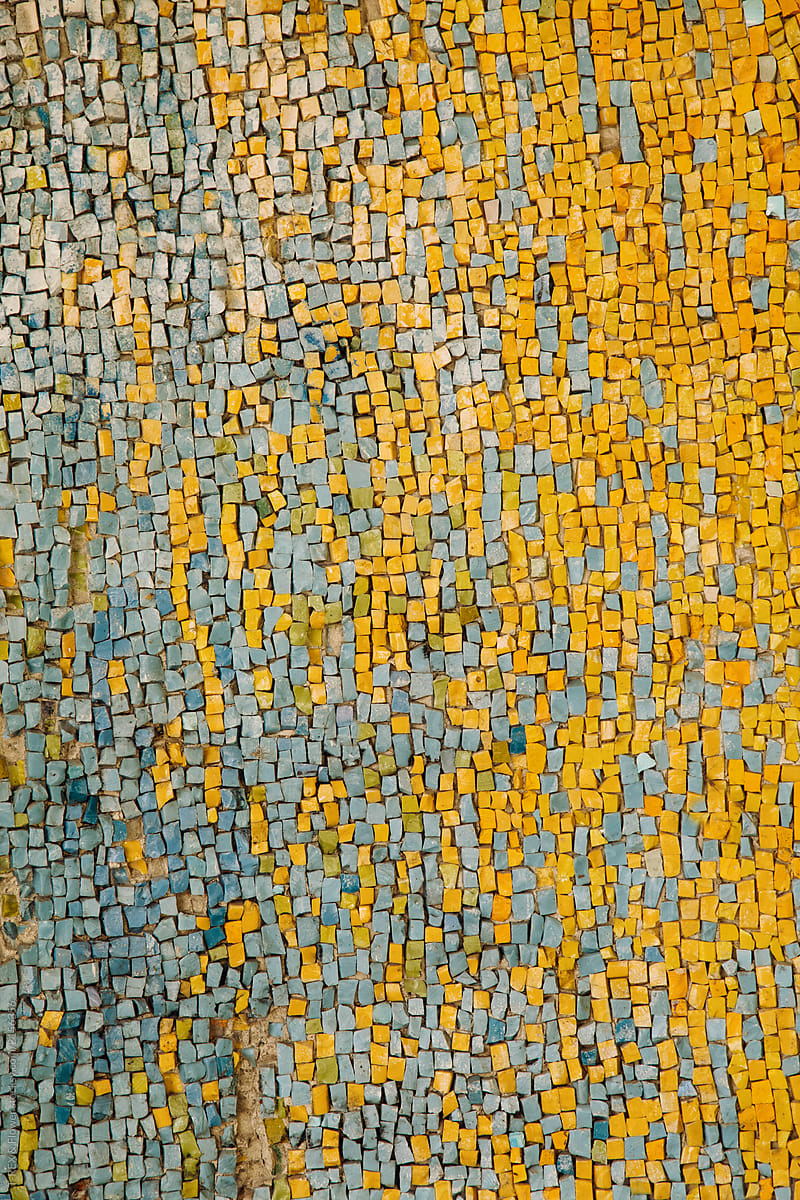 Yellow And Blue Mosaic | Stocksy United