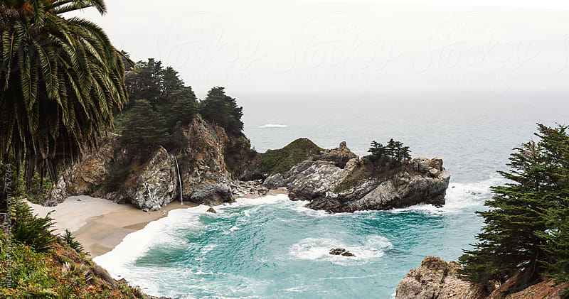McWay Falls and McWay Cove, Big Sur, California by michela ravasio for Stocksy United