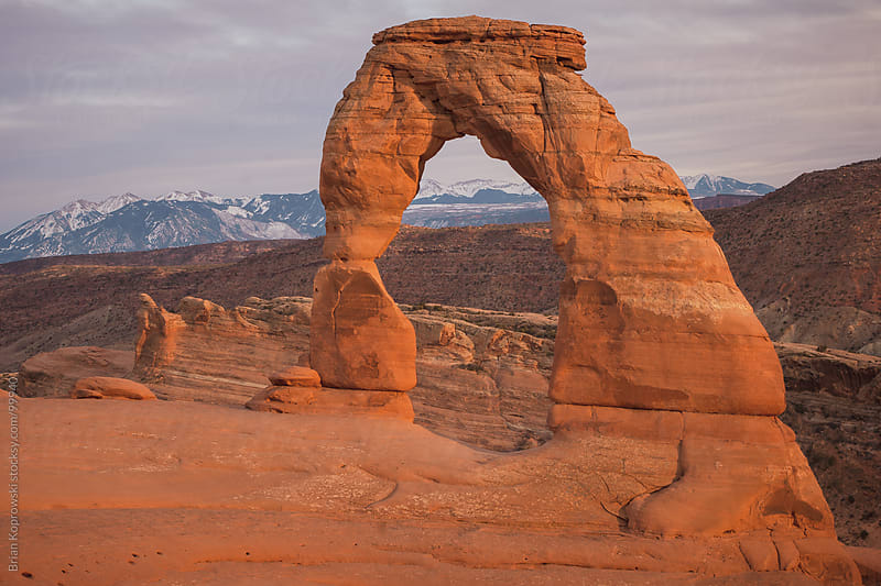 Delicate Arch in Golden Light by Brian Koprowski for Stocksy United