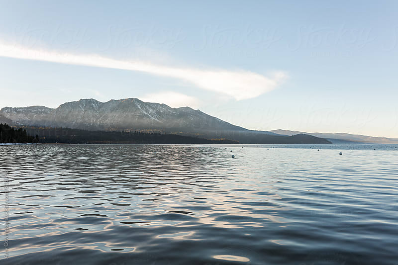 Scenic view of Lake Tahoe by Amy Covington for Stocksy United