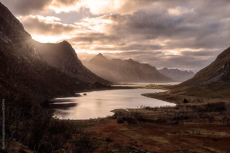 Last lights in Lofoten islands. Norway by Guille Faingold for Stocksy United