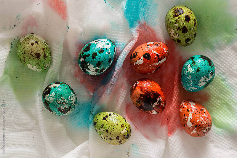 Colored Quail Eggs For Easter by Studio Six for Stocksy United
