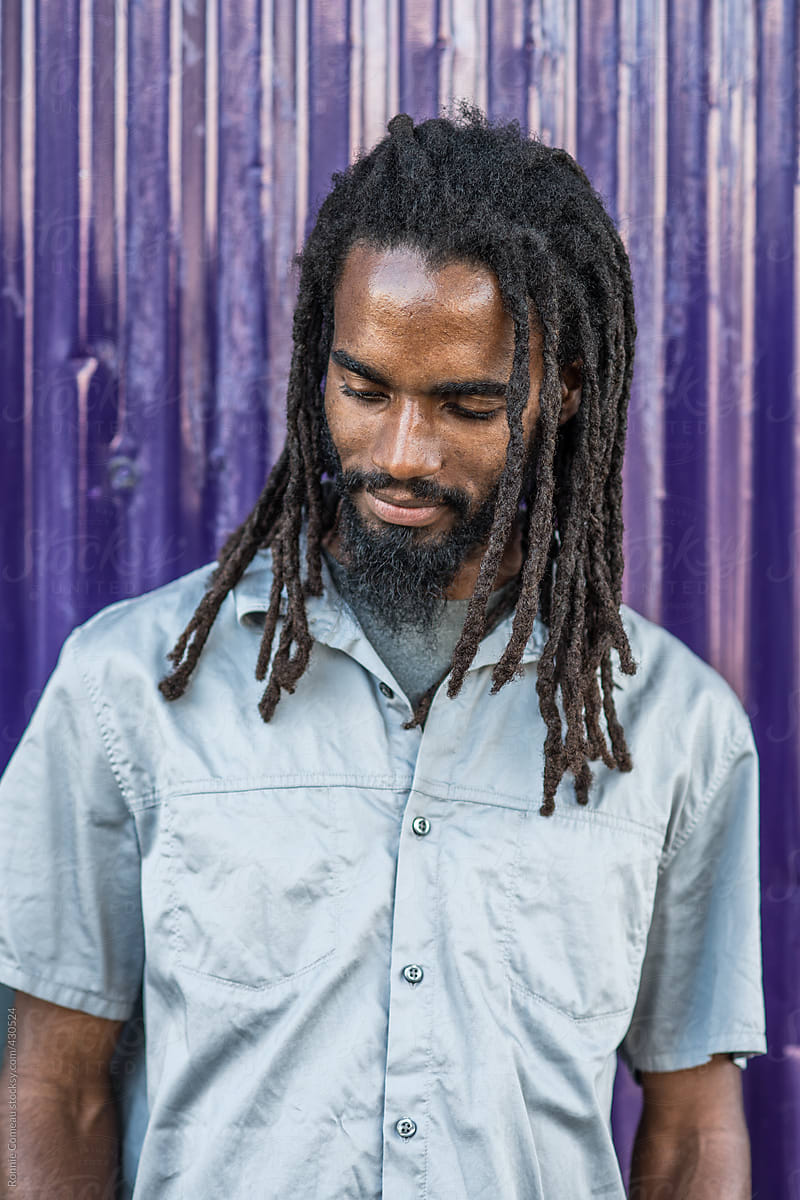 Jamaican Man With Dreadlocks by Ronnie Comeau