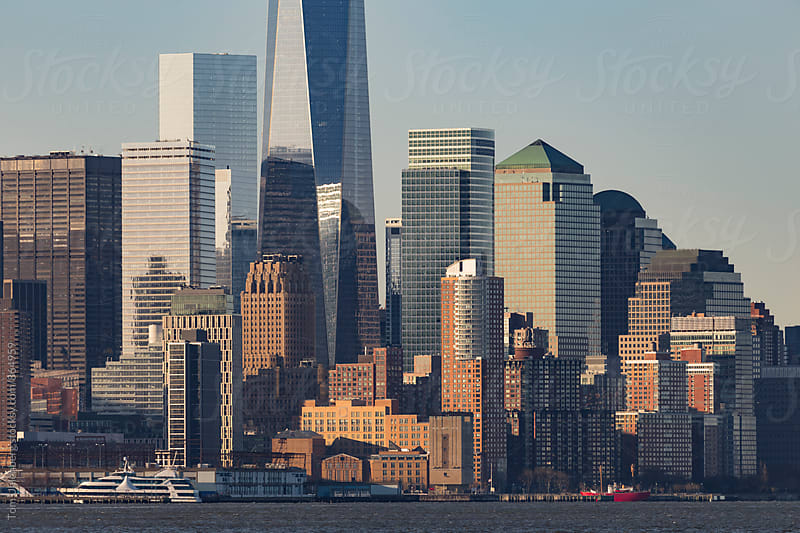 Lower Manhattan Skyscrapers (New York City) as Seen from New Jersey by Tom Uhlenberg for Stocksy United