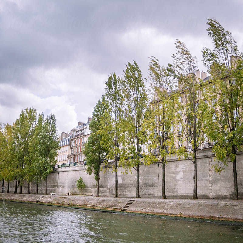 Bank of the Seine River by ACALU Studio for Stocksy United
