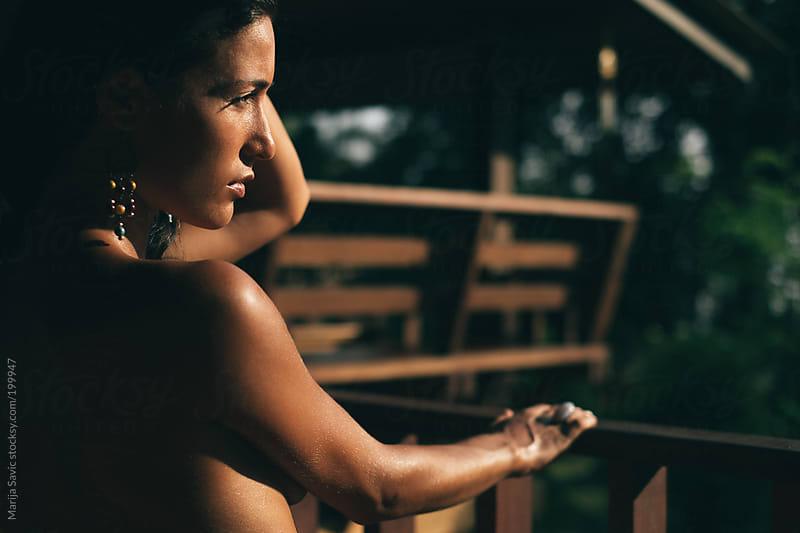 Portrait of a Beautiful Woman by Marija Savic for Stocksy United