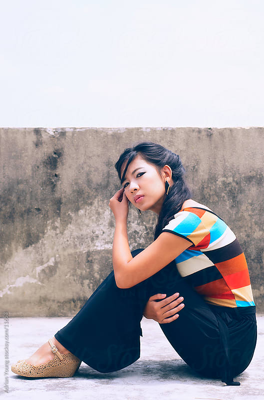 Fashion Portrait of Young Asian Woman by Adrian Young for Stocksy United