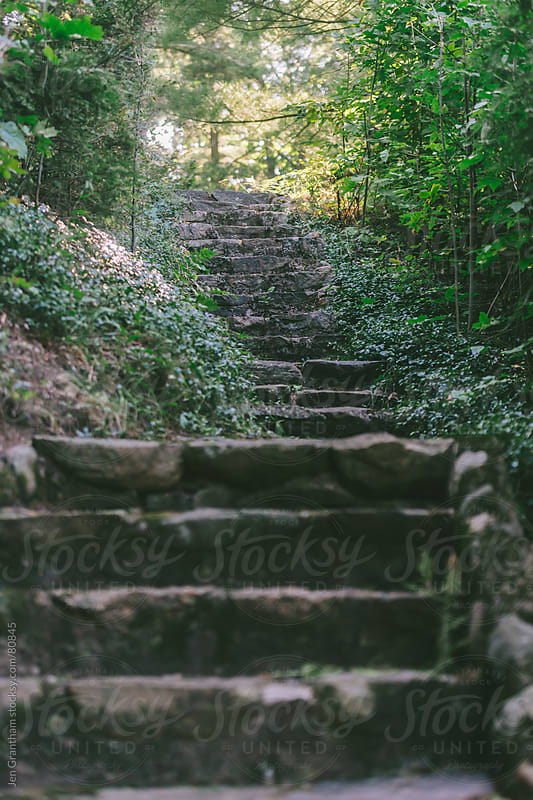 Stone Staircase by Jen Grantham for Stocksy United
